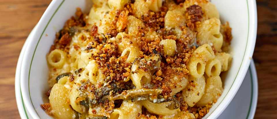 Macaroni and Cheese Recipe With Greens