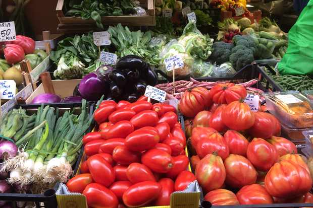 Bologna market - fruit and veg stall