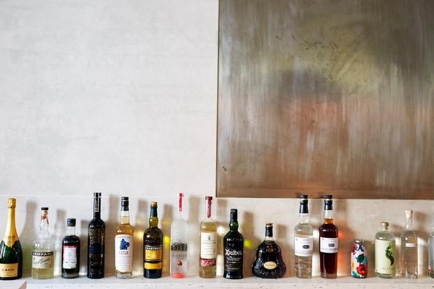 Cub, London - drinks on the bar