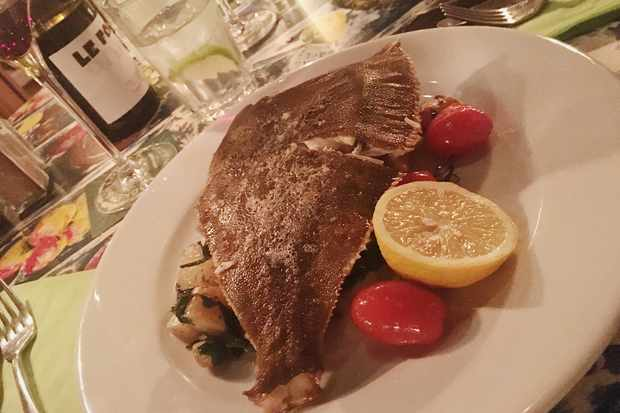 Dungeness plaice with new potatoes and cherry tomatoes