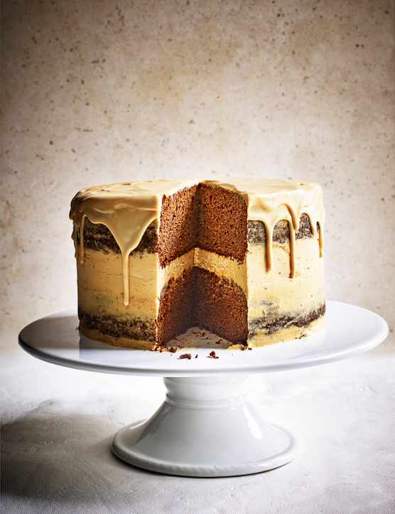 Jamaican ginger and caramel cake
