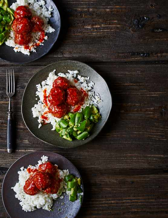Honey Sriracha Glazed Meatball Recipe