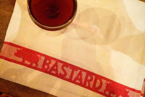 Napkin with a glass of wine on it