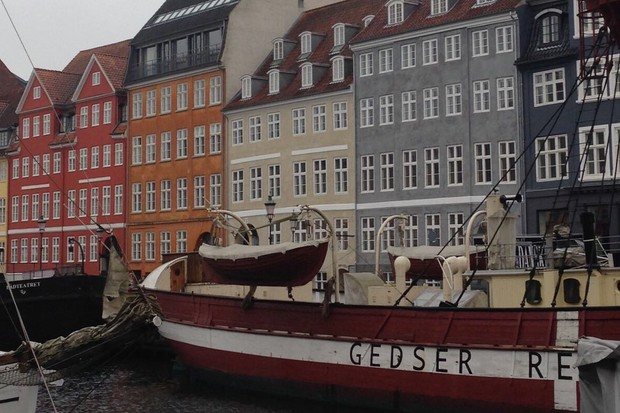 Copenhagen, Nyhavn, but the river - colourful houses