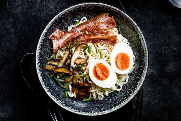 Breakfast ramen recipe
