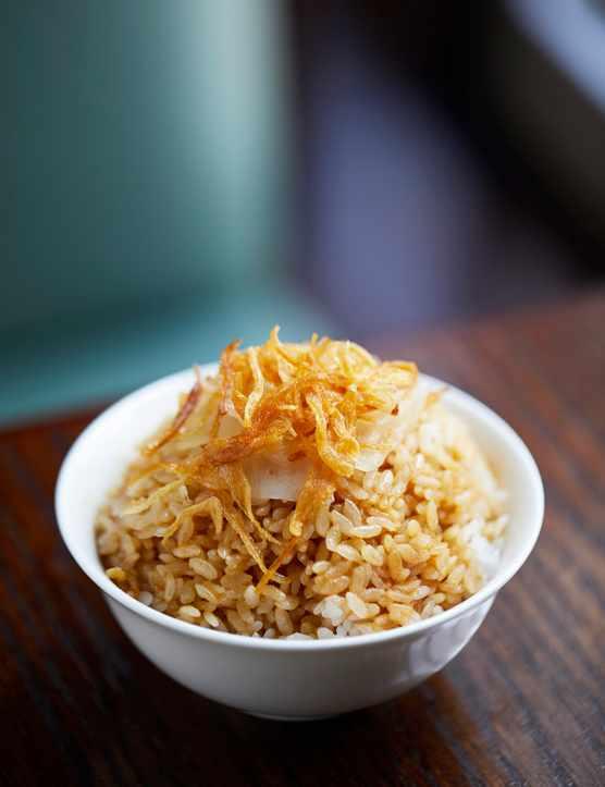 Lardo onion rice, Xu restaurant