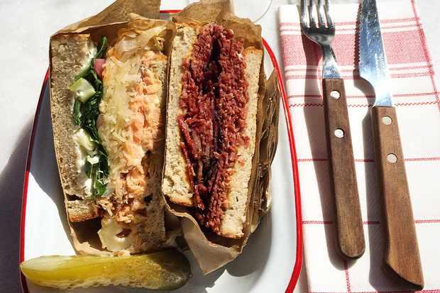 Reuben sandwich at Katarina Cafe Stockholm