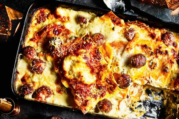 Meatball Lasagne Recipe with Sage and Butternut Squash