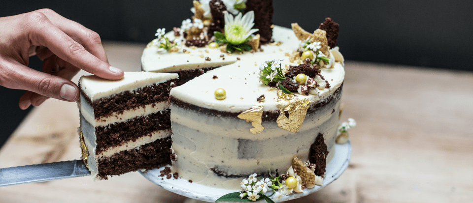 Chocolate Celebration Cake Recipe with Tahini and Honey