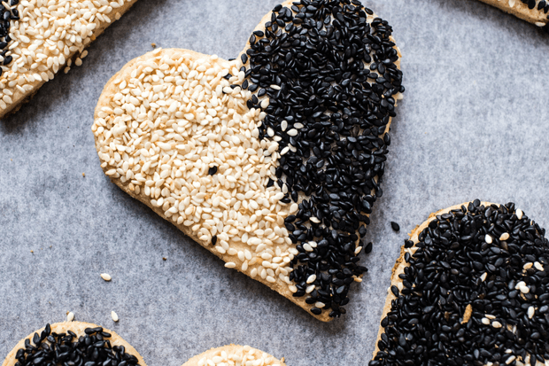 Barazek Shortbread Cookie Recipe (Black and White Sesame and Pistachio Biscuits)