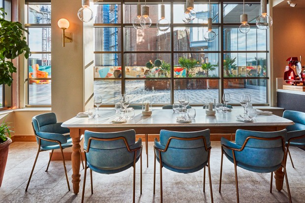 Fiume restaurant, Battersea, London interior shot