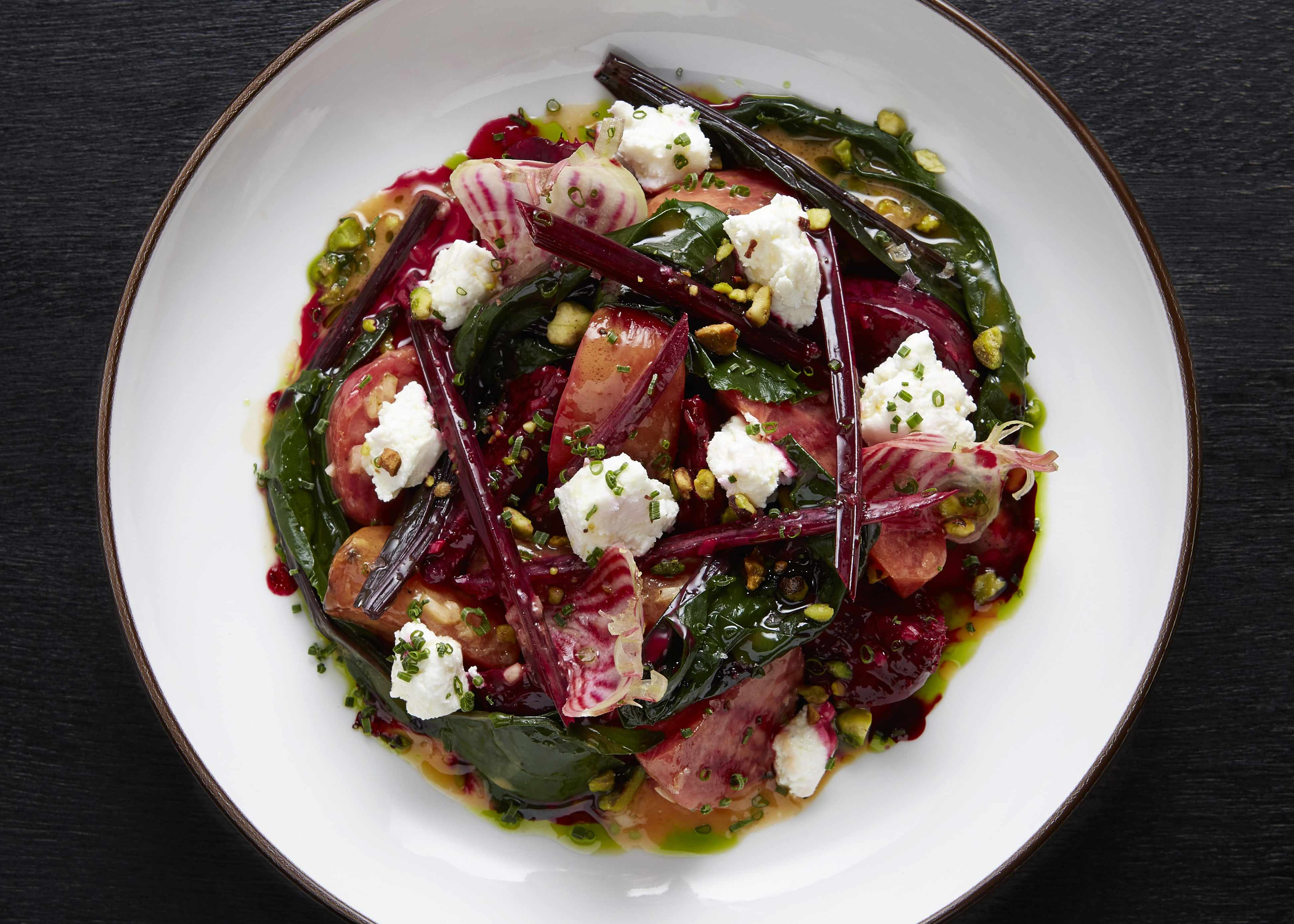 A plate of beetroot at Hovarda
