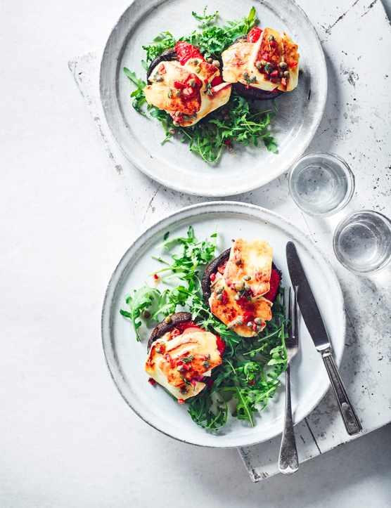 23 Halloumi Recipes and Expert Guide to Cooking Halloumi Halloumi Stuffed Mushrooms Recipe