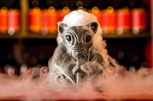 Smoking Rat Cocktail at Opium Chinatown London
