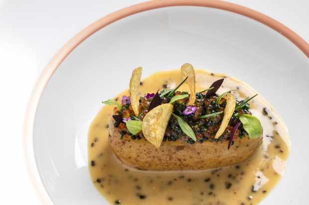 Charlotte potato with beurre blanc packed with the umami punch of dulse