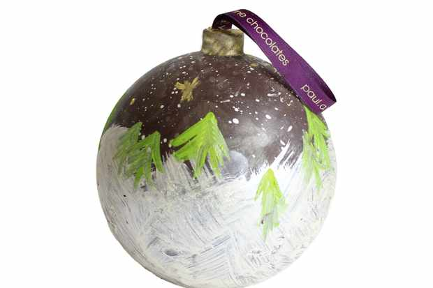 Paul A Young chocolate bauble