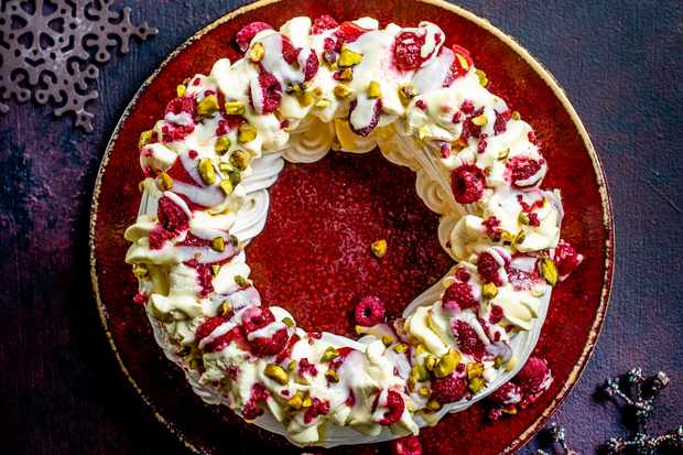 Waitrose frozen raspberry and passion fruit meringue wreath