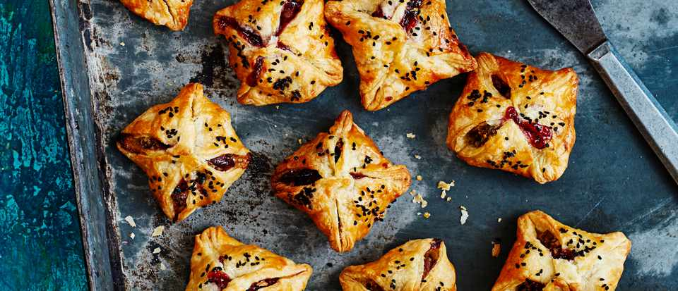 Turkey Sausage Puff Pastry With Stuffing And Cranberry