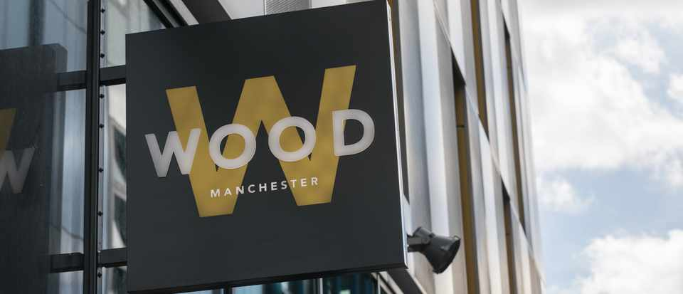Wood Manchester - outside sign