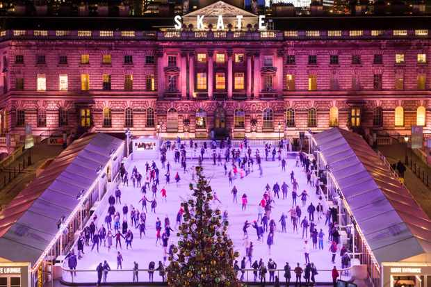 The ice skating rink outside London's Somerset House