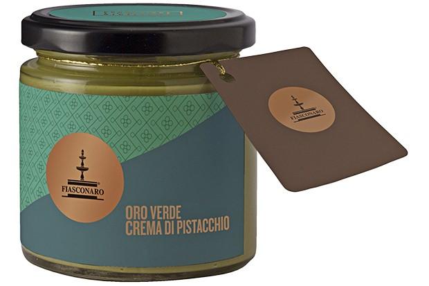 A jar of Fiasconaro pistachio cream