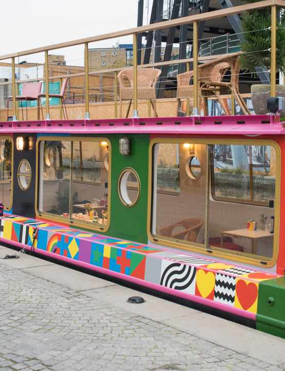 Darcie and May Green Canal Boats in Paddington Central