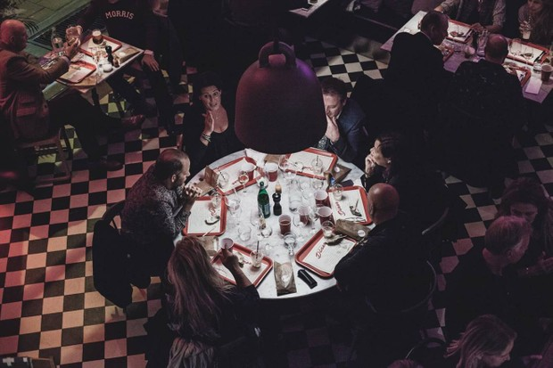Overhead view of a table at Drottninggatan 35 Skane