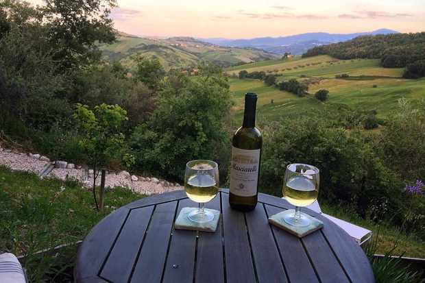 Wine at Fireflies and Figs, Abruzzo