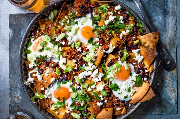 Chilaquiles Recipe with Eggs and Feta