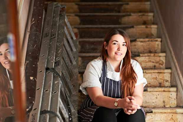 Sara Lewis, head chef of The Pilgrim Hotel. Photo by Thomas Bowles