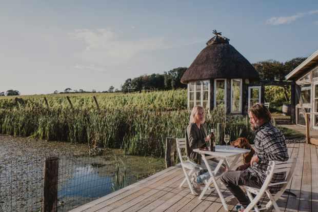 Waterside wine tasting at Arilds Vingard