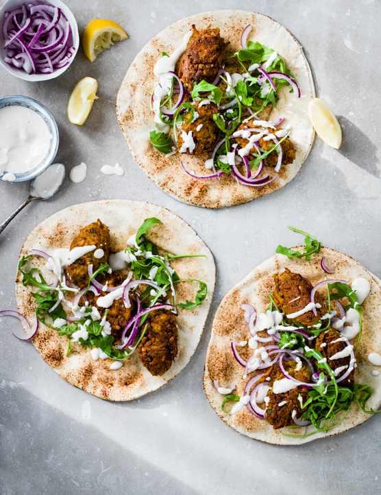 Vegetable Kofta Recipe with Tahini Yogurt Sauce