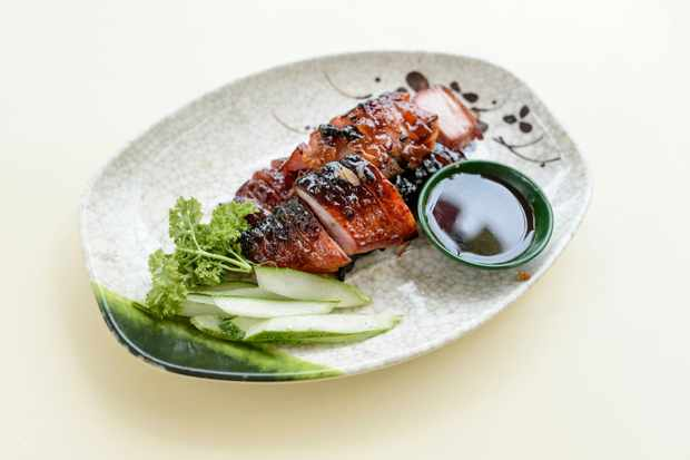Char Siu In Plate On Table