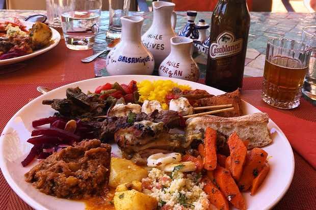 Sunday brunch at Jardin Des Douars Essaouira