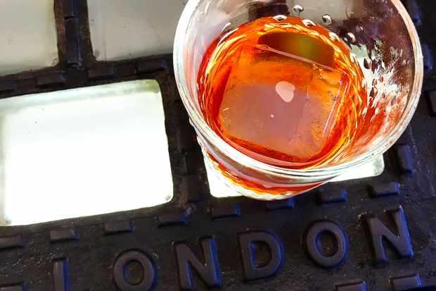 Bergamot negroni at Sager + Wilde Hackney Road