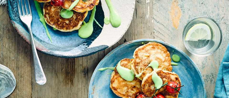 Ricotta Fritters with Sweetcorn