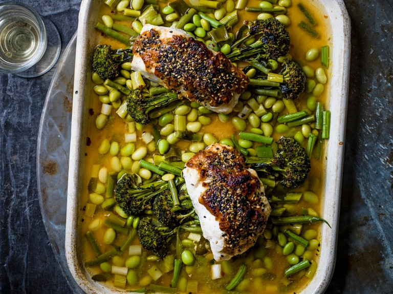 Miso Fish Recipe With Broccoli Sesame And Beans Olivemagazine