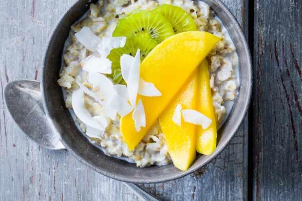 Tropical coconut and lime porridge