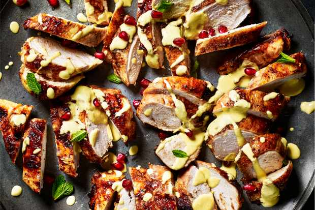 Chicken and Pomegranate Recipe with Mint