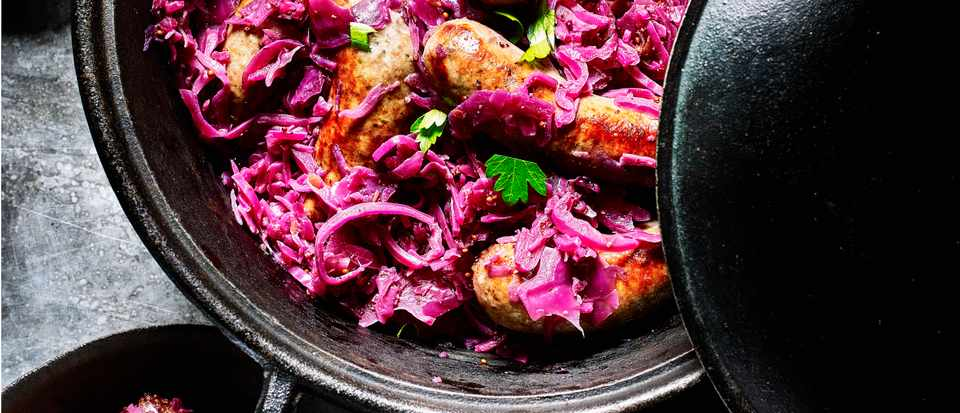 Red Cabbage and Sausage Recipe