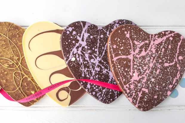Valentine's Day chocolate hearts Chococo
