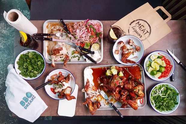 BBQ Dreamz street food selection at MeatLiquor