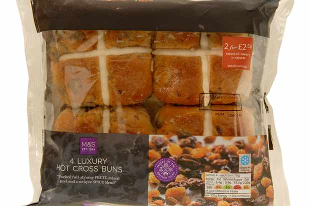 4 Luxury Hot Cross Buns marks and spencers