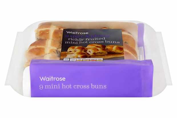Waitrose mini hot cross buns