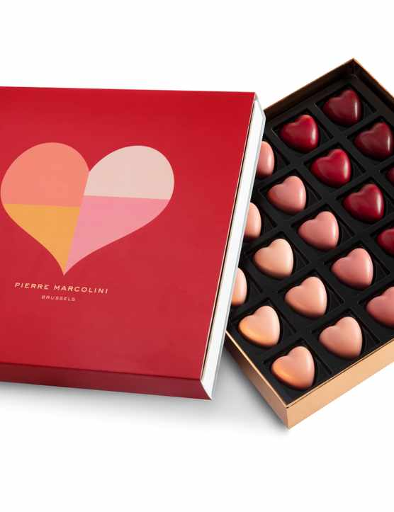 Pierre Marcolini 25 Valentine's hearts