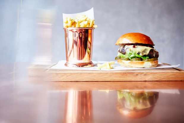 Boxcar Burger and Chips