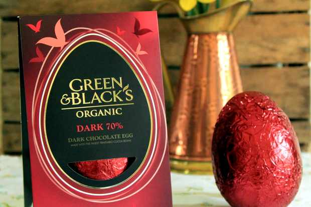 Green and Black's dark chocolate Easter egg