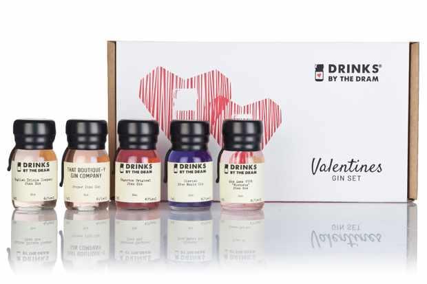 Drinks by the Dram Valentines Gin Tasting Set