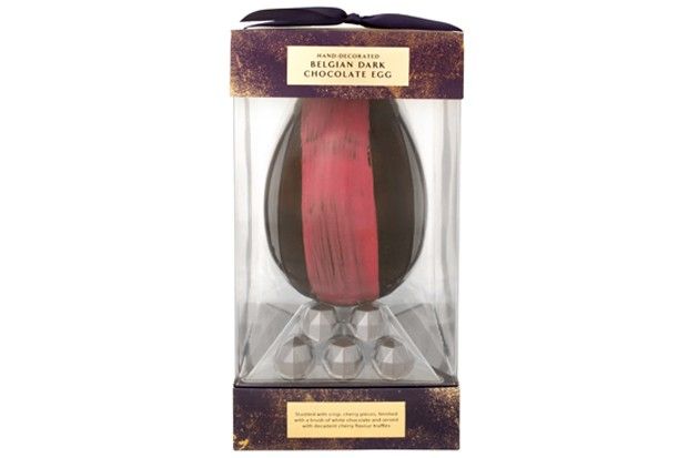 Extra Special Hand-Finished Belgian Dark Chocolate Egg with Cherry v2