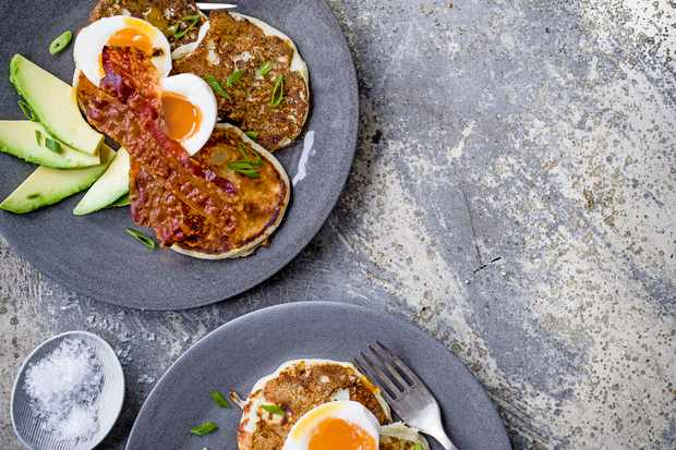 Here and Now Potato and Spring Pancakes